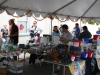 Inside the vendor tent!
