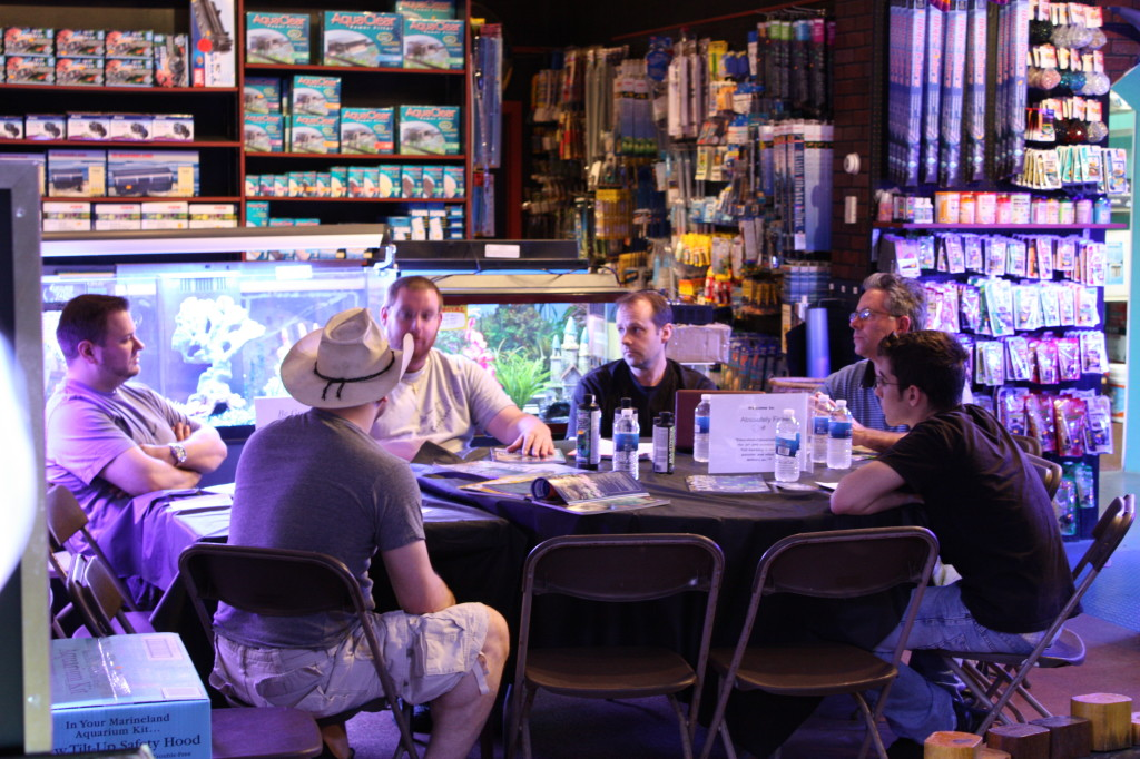 Roundtable discussion on reef aquariums